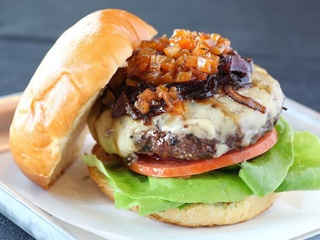 Bison burger at Dee Lincoln Steak & Burger Bar in Dallas