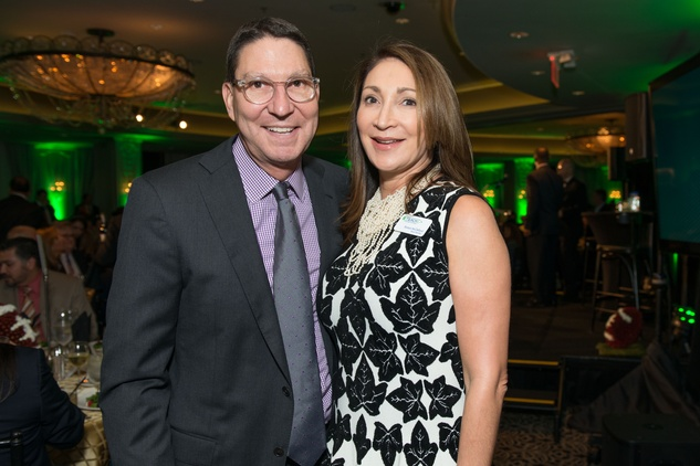 Scott and Soraya McClelland at the Touchdown for Teachers dinner November 2014