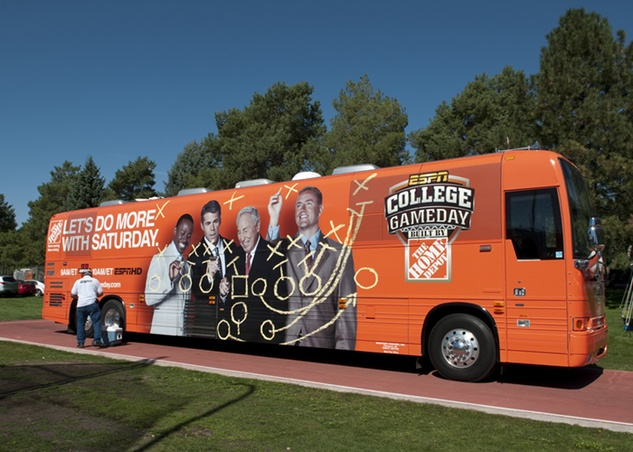 College GameDay bus