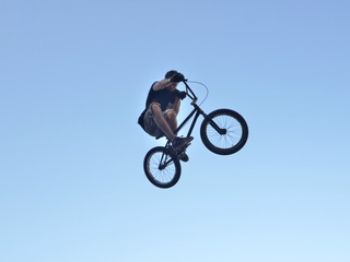 x games rally bmxer getting air