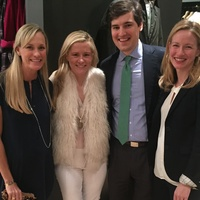 Leigh Anne Raymond, from left, Monica Bickers and Carter and Mary Groves at Sid Mashburn + Ann Mashburn Houston Anniversary Party December 2014