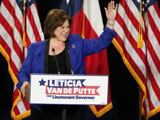 Leticia Van de Putte speaking during campaign for Texas Lieutenant Governor