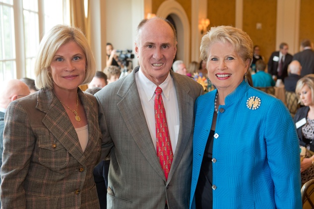 7 Kelli Blanton, from left, withn Eddy and Ginger Blanton at the Houston Methodist Luncheon September 2014