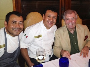 Ruben Ortega, left, Hugo Ortega and Jacques Pepin