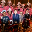 Pink Heals Firefighters with kids backstage, children's cancer fund luncheon