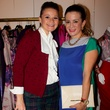 2 Angel Crawford, left and Mad'moiselle Moni at the Dress for Dinner kickoff in new David Peck Showroom September 2014