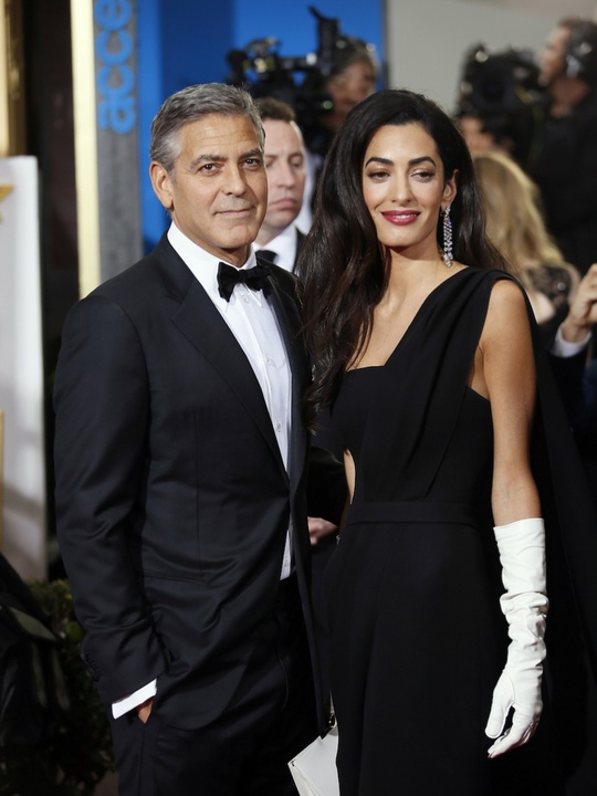 George and Amal Clooney at Golden Globes January 2015