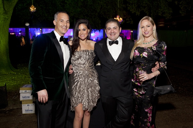 20 Meredith Cullen, from left, Natassia McMillian, Phillip Sarofim and Lori Krohn at Gala on the Green February 2014