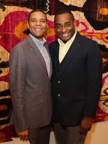 HGO Ovation Awards announcement and reception, March 2013, Leslie Jackson, Marcus Carter