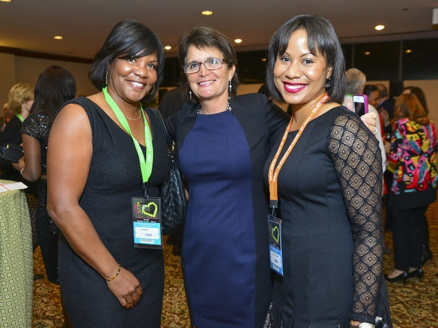 7 Lori McNeil, from left, Liz Oppenheimer and Charann Thompson at the Zina Garrison Academy's 20th Anniversary Gala November 2013