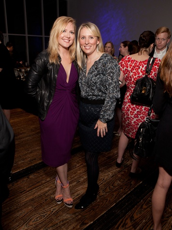 17 Caroline LeBlanc, left, and Liz Anders at the Menil Young Professionals party December 2013