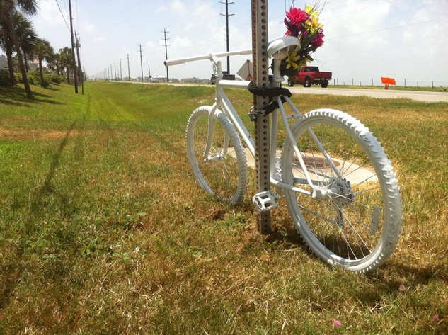 Galveston ghost bike Jon Trevalise