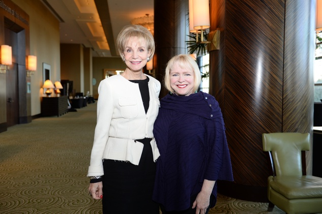Leisa Holland Nelson, left, and Leila Perrin at the El Centro de Corazon luncheon March 2015