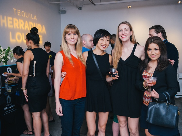 13 Ashley Seddon, from left, Amy Chien, Fiona Deyoung and Darla Guillen at CultureMap's 2014 Tastemakers Awards May 2014