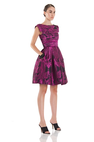 Theia dress in Radiant Orchid, Pantone color of the year