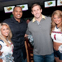 Chester Pitts bowling party, June 2012, Lauren, Chester Pitts, Owen Daniels, Lindsey