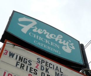 Frenchy's Chicken, sign