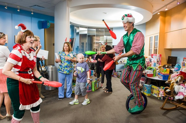 15 Santa at Texas Children's Hospital December 2013