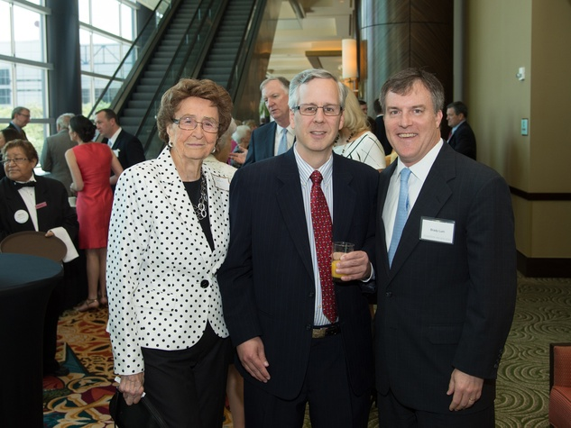 Yvonne Streit, from left, Paul Pressler and Brady Lum at the Brookwood luncheon April 2014