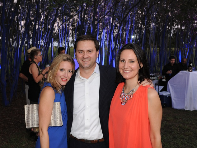 Elin and Tommy Jackson, from left, with Kate Stukenberg at HAA's Under The Blue Trees Pop-Up Party October 2013