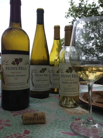 Lunch Al Fresco at Stony Hill Vineyards