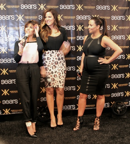 Kardashians at Sears Willowbrook Mall in Houston May 2013