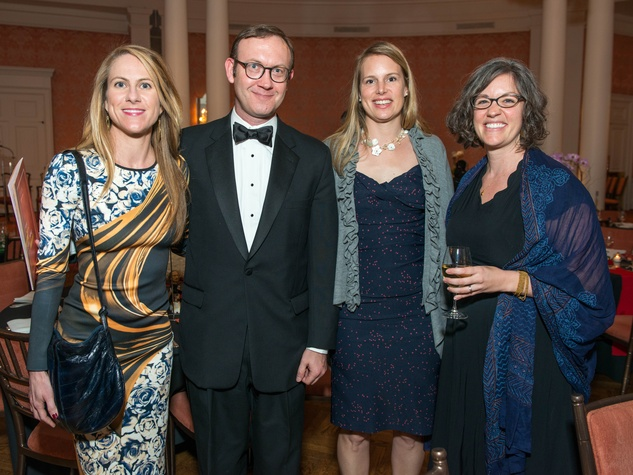 9 Margot Williams, from left, George Rau, Emily Manderson and Kate Vickery at the Inprint Ball February 2015