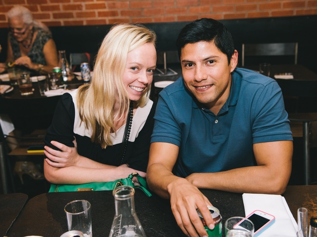 16 Tanya Teske and Alex Martinez at Dine Around Houston at Sparrow Bar & Cookshop