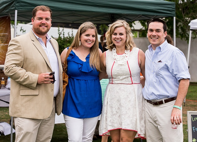 1 Jeff and Jennifer Beitler, from left, with Courtney and Drew Prochaska at the Yellowstone Academy polo party April 2014