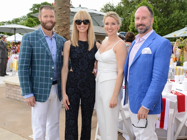 News, Shelby, River Oaks Tennis Tournament luncheon, April 2015, Kevin Black, Chris Goins, Christina Stith, Tony Bradfield
