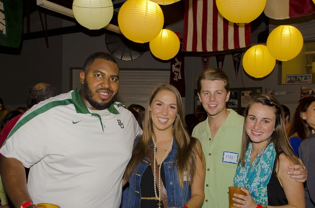 6 Nick Jean-Baptiste, from left, Disney Hanka, Max Harris and Alex Richoux at the Bear Bryant Awards young professionals party October 2014