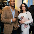 3 Lawrence Clayton and Gabriella Aliberti at the Artesa wine tasting at Cru March 2014