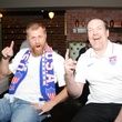 Scott Thiem, left, and Jay Caldwell at the World Cup Watch Party with Dynamo players at Local Pour June 2014