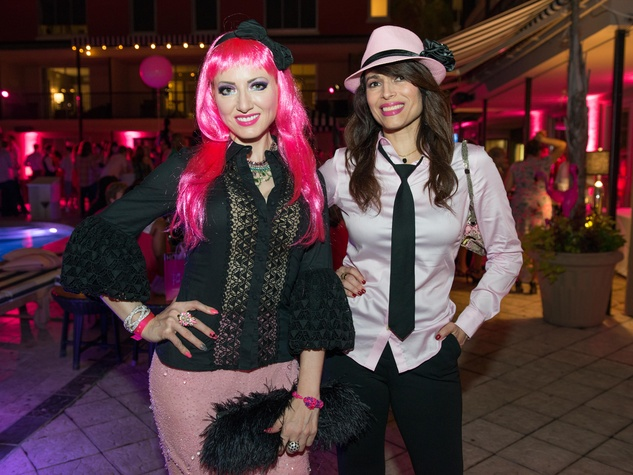 21 Yasmine Haddad, left, and Karina Barbieri at the Pink Party at Hotel ZaZa July 2014
