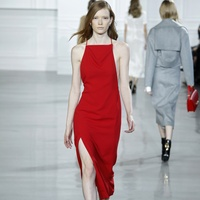 Jason Wu red dress fall 2015 collection