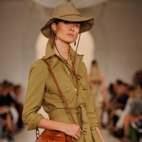 Fashion Week spring 2015 Ralph Lauren September 2014 safari with bag