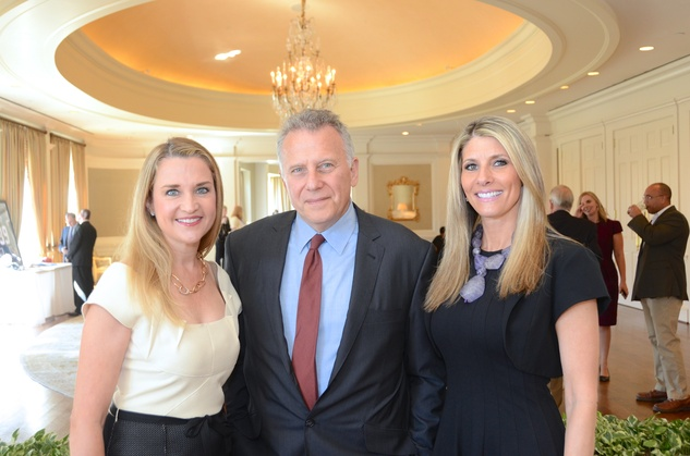 The Center luncheon, Feb. 2016, Mary D'Andrea, Paul Reiser, Gina Bhatia