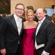 3081 Josh and Danielle Batchelor, from left, with Allen Gelwick at the Houston Symphony Centennial Ball May 2014