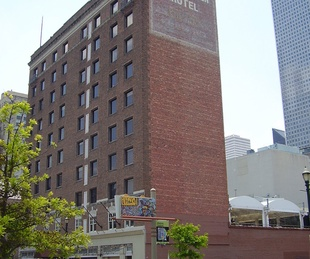 The Sam Houston Hotel downtown Houston exterior day