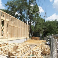 4, Ralph Bivins, home building in Bellaire, construction, October 2012