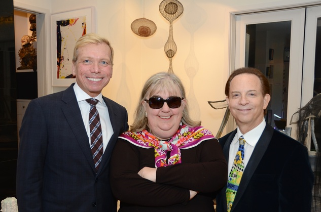2 10 Jonathon Glus, from left, Cindy Clifford and Lester Marks at the Rick Lowe Party December 2014