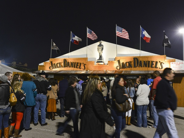 ... Jack Daniels tent at the Houston Rodeo barbecue cook-off February 2014