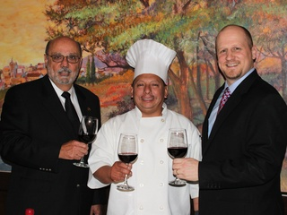 Bubba Butera, from left, chef Napoleon Palacios and Johnny Mandola, January 2013