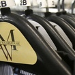 Men's Wearhouse clothes on hangers