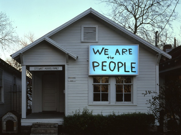 Project Row Houses We are the People sign