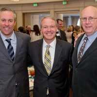 6 Reid Ryan, from left, Dr. Marc L. Boom and Jamie Hildreth at the Houston Methodist Luncheon September 2014